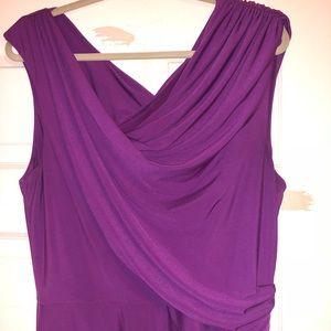 MAGGY LONDON size 16 draped purple dress